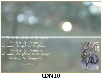 CDN10 - carte double pliée 210 x 148 mm - 2,50 €