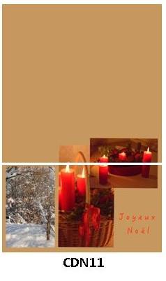 CDN11 - carte double pliée 210 x 148 mm - 2,50 €