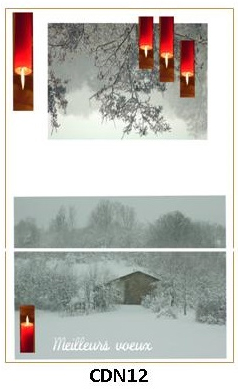 CDN12 - carte double pliée 210 x 148 mm - 2,50 €