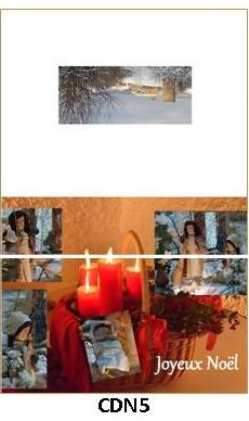 CDN5 - carte double pliée 210 x 148 mm - 2,50 €